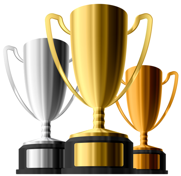 Gold Silver Bronze Trophies Clipart